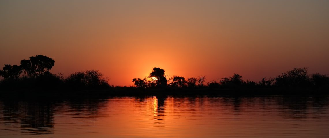 sunset okavango Sonnenuntergang