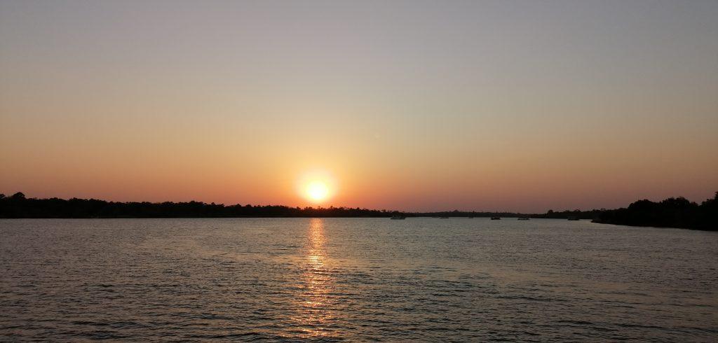 Sonnenuntergang auf dem Sambesi