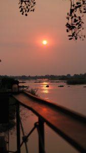 Sonnenuntergang sunset Mobola Lodge
